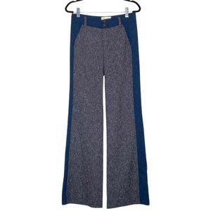 Elevenses Anthropolgie Brighton Trousers Gray Blue